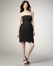 MARC BY MARC JACOBS PALMETTO BLACK EYELET COCKTAIL KNEE LENGTH DRESS NWT 2 $458
