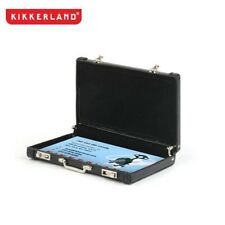 Kikkerland Mini Faux-Leather Black Briefcase Business Card Carrier (OR18-BK)