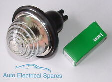 Lucas L594 side / indicator flasher lamp / light CLEAR GLASS COMPLETE