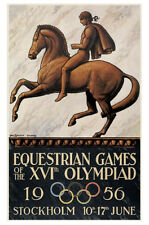 STOCKHOLM 1956 Equestrian Olympic Games Official Olympic Museum POSTER Print