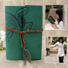 Retro Leaf Vintage PU Leather Cover NoteBook Diary Journal String Travel Gift