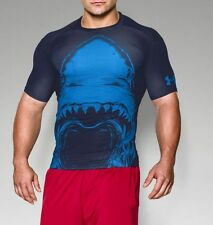 New Men's Under Armour Alter Ego 100% Beast Shark Compression Shirt- XL