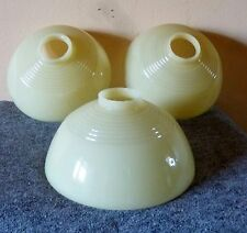 antq ART DECO custard glass SLIP SHADES 1930s