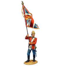 ZUL027 British 24th Foot Standard Bearer with Queen's Colors by First Legion