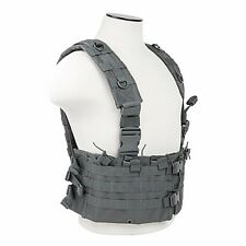 NcStar CVARCR2922U GRAY Tactical Vest AR Chest Rig w/6 5.56/.223 Mag Pouches