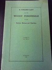 Woody Perennials in the Butler Botanical Garden, Scott McCoy, 1935, pb