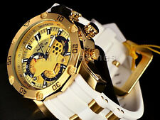 Invicta Mens Pro Diver Scuba 3.0 Chronograph Skeletonize Dial White Strap Watch