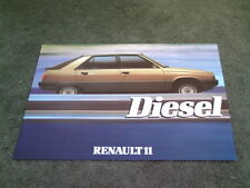 April 1984 RENAULT 11 GTD DIESEL - UK SINGLE SHEET BROCHURE