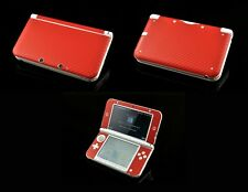 Red Carbon Fiber Vinyl Decal Cover Skin Sticker for Nintendo 3DS XL/LL