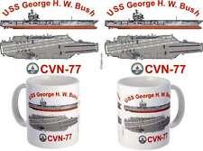 USS George H W Bush (CVN-77) Coffee Mug