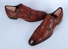 To Boot New York 'Burns' Double Monk Strap Loafer- Cognac-Size 11.5 M- $450