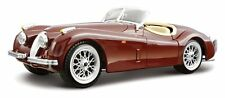 Bburago 1951 Jaguar XK120 Roadster Burgundy 1/24 Diecast Car Model 22018rd