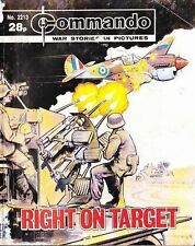 Commando For Action & Adventure Comic Book Magazine #2213 RIGHT ON TARGET