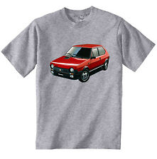 FIAT RITMO 125TC ABARTH INSPIRED - NEW COTTON GREY TSHIRT - ALL SIZES IN STOCK