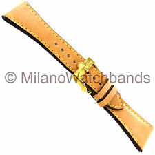 26mm Glam Rock High Quality Hand Made Tan Genuine Leather Stitched Watch Band