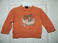 MINI BODEN boys Ornage DROP IN! NOT OUT DUDE Sweatshirt* 2 3 4