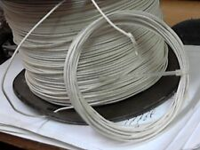 25ft coil Western Electric 24g solid, tinned,cloth covered, WHITE
