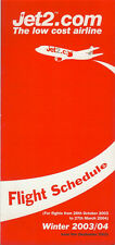 Jet2.com system timetable 10/26/03 [5124] (Buy 2 get 1 free)
