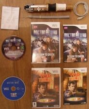 Doctor Who = Sonic screwdriver-remote = volver a earth+top Trumps = DR = Nintendo Wii