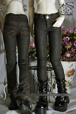 1/4 BJD boy doll or girl outfit black skinny jeans dollfie luts GenX minifee