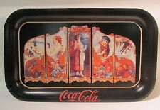 Coca Cola Four Seasons Reproduction 1989 Serving Metal Tray Excellent