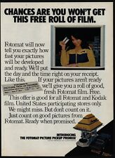 1977 FOTOMAT One-Day Drive-Up Film Processing Kiosk - Retro 1970's VINTAGE AD