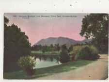 Cheyenne Mountain From Monument Valley Park Colorado Springs USA Postcard 935a