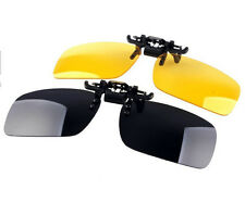 Kawachi Non Polarized Clip On Yellow & Black Sunglasses Combo C80