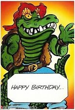 Teenage Mutant Ninja Turtles TMNT Birthday Greeting Card #9 (1989) Leatherhead