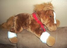 Horse Jumbo Stuffed Plush JCPenny Christmas Holiday Collection red plaid scarf