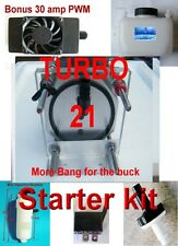 TURBO UNIT  HHO 21 PLATE DRY CELL COMPLETE STARTER KIT