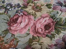 1 YARD TAPESTRY MATERIAL WITH ROSES~Shabby~Cottage~Chic~Fabric~Crafts~Upholstery