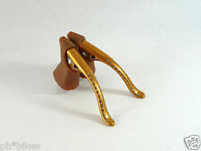 Modolo Brake Levers Speedy Gold W Gum Hoods Milled Vintage Road Bike NOS