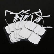 2016 20 pcs Re-usable Tens Units Electrodes Pads Massager 4x4cm Nerve Stimulator