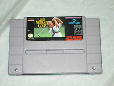 Jack Nicklaus' Golf (Super Nintendo , SNES) cart only good