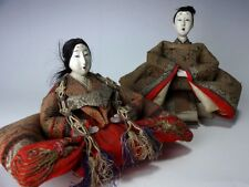 Antique Taisho Early Showa Era 1910-20s Japanese Hina Dolls Gofun