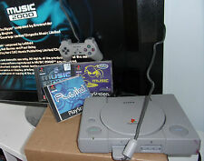 Sony AUDIOPHILE PLAYSTATION 1 ps1 Console + BITS +3 Music generazione di DJ Bundle