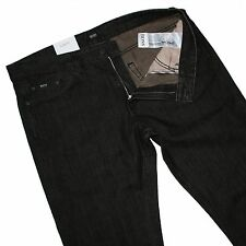 Hugo Boss 50255660 Marrón Oscuro Enjuagado Denim Delaware Slim Fit Jeans