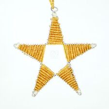 Africa Handmade Maasai Bead Wire Christmas Star Ornament