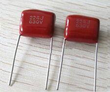 10pcs CBB22 Capacitor 630V 224J 220nF 0.22uf 630V/224J Pitch 15mm