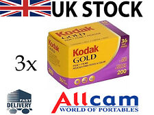 Kodak Gold GB 200 135-36 Film (3 Rolls, 35mm, 36 exposure, ISO 200) New