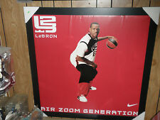 LEBRON JAMES NIKE AIR ZOOM GENERATION VINYL POSTER VERY VERY RARE!