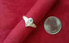 Beautiful Art Deco Cubic Zirconia Ring Real Sterling Silver Size 7.5 Lot F84 NEW