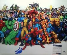 AUTOGRAPHED STAN LEE MARVEL CAST SIGNED 16X20 PHOTO WHITE PSA/DNA CERTIFIED