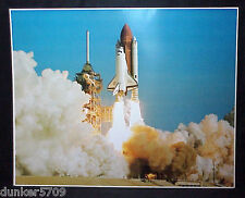 1990 NASA SPACE SHUTTLE ORBITER DISCOVERY LAUNCH MAIDEN FLIGHT POSTER 16X20 INCH