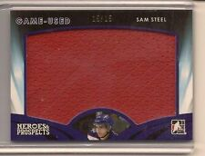 SAM STEEL 2015-16 LEAF ITG HEROES & PROSPECTS GAME USED JERSEY /15