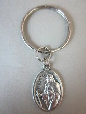 Silver Plated St Juan Diego Medal Italy Key Ring
