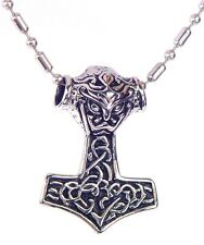 BUTW  Stainless Steel  Thors Hammer Necklace Pendant Norse Viking Mjollnir 6483K