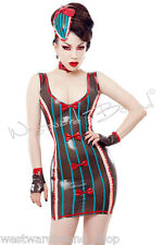 R1275 RUBBER Latex LOLLY DRESS Fetish Uniform Shown 8 Westward Bound