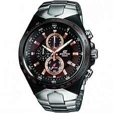 CASIO EDIFICE Men EF-534D-5A  Brown Dial 3subdial Stainless Steel Bracelet